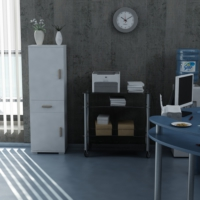 Sanal Mobilya Sorrento Çok Amaçlı Ofis Dolabı G4-Ç1-K2-K5