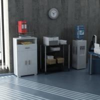 Sanal Mobilya Sorrento Çok Amaçlı Ofis Dolabı K4-G5-Ç3