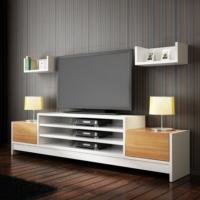 Sanal Mobilya Terra Tv Ünitesi Beyaz/Ceviz