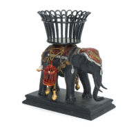 Beymen Home G&C Interiors Elephant W/Basket Left Kahverengi Biblo