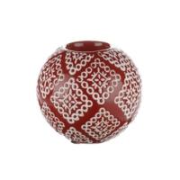 iHouse Xy06E Dekoratif Şamdan Kırmızı