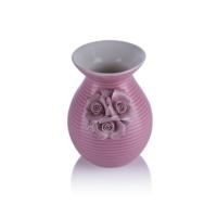 Porio M66-200 - Çiçekli Pembe Vazo 16 Cm