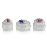 Porio M66-123 - 3'lü Beyaz Mücevher Kutusu 7 Cm
