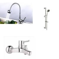 Erce Delta Spiralli Evye + Banyo Bataryası Ve Sürgülü Duş Takımı