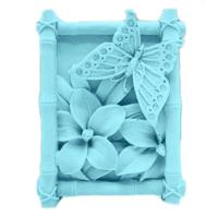 Elitparti Çerçeveli Çiçek Ve Kelebek Sabun Ve Kokulu Taş Silikon Kalıbı