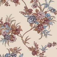 Dekor Harmony 155-C Çiçek Desenli Duvar Kağıdı