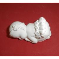 Yıldız Hobi Kız Uyuyan Bebek Silikon Sabun ve Kokulu Taş Kalıbı