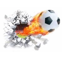Modakedi Futbol Topu Figürlü Gol 3 Boyutlu Duvar Sticker