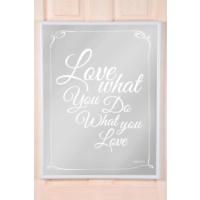 The Mia Dekoratif Ayna Love 70 * 54 Cm - Beyaz