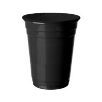 Partistok Siyah Büyük Plastik Bardak 8 Adet