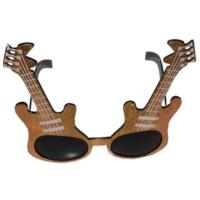 Partistok Gitar Şekilli Parti Gözlüğü Sarı
