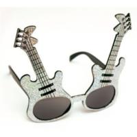 Partistok Gitar Şekilli Parti Gözlüğü Gümüş