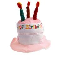 Partistok Doğum Günü Şapkası Mumlu Happy Birthday Şapkası