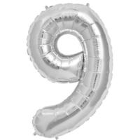 Partistok 9 Rakamlı Folyo Balon Gümüş