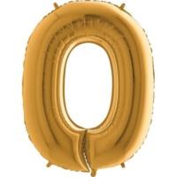 Partistok 0 Rakamlı Folyo Balon Altın