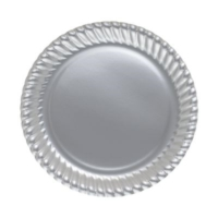 Partistok Gümüş Karton Tabak 8'li