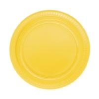 Partistok Sarı Plastik Parti Tabağı 22 Cm 25 Adet