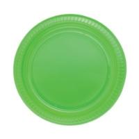Partistok Yeşil Plastik Parti Tabağı 22 Cm 25 Adet