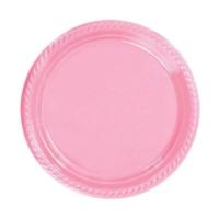 Partistok Pembe Plastik Parti Tabağı 22 Cm 10 Adet