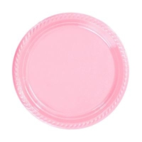 Partistok Pembe Plastik Parti Tabağı 26 Cm 8 Adet
