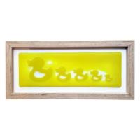 Cool Glass Design Ördek AilesiCam Duvar Süsü 17 x 37 cm El Yapımı