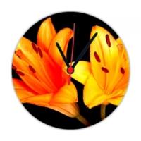 Fotografyabaskı Turuncu Zambak 20 Cm Yuvarlak Hdf Saat Baskı