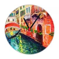 Fotografyabaskı İtalya 20 Cm Yuvarlak Hdf Saat Baskı