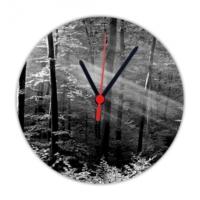 Fotografyabaskı Orman 20 Cm Yuvarlak Hdf Saat Baskı