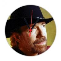 Fotografyabaskı Chuck Norris 20 Cm Yuvarlak Hdf Saat Baskı
