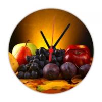 Fotografyabaskı Meyveler Ve Su 20 Cm Yuvarlak Hdf Saat Baskı