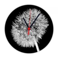 Fotografyabaskı Hindiba Çiçeği 20 Cm Yuvarlak Hdf Saat Baskı