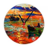 Fotografyabaskı Balıkçı 20 Cm Yuvarlak Hdf Saat Baskı
