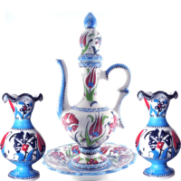 Oğuz Çini Antik İbrik Set