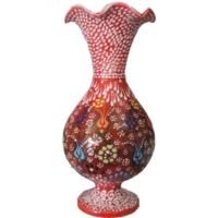 Oğuz Çini Sümbül Dantel Vazo
