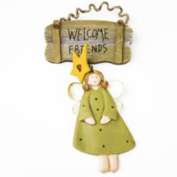 Welcome Kapı Ve Duvar Süsü \ Yılbaşı Süsü - Yeşil 9X18 LN875-Y