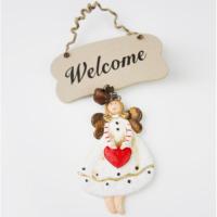 Welcome Melek Kapı Ve Duvar Süsü\ Yılbaşı Süsü 11X14 LN876-3