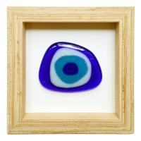 Cool Glass Design Nazar Boncugu Cam Duvar Süsü 16 X 16 Cm El Yapımı