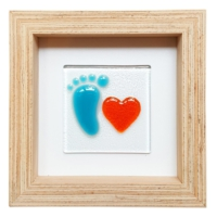 Cool Glass Design Sevgili Erkek Bebek Cam Duvar Süsü 16 X 16 Cm El Yapımı