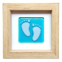 Cool Glass Design Minik Adim Mavi Bebek Ayağı