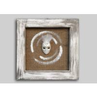 Luckywoodstore Beyaz Maske İle Masif Çerçeve
