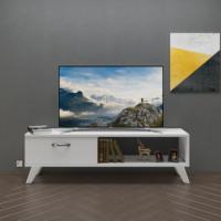 Eyibil Mobilya Kuzey 120 cm Tv Sehpası Tv Ünitesi Parlak Beyaz