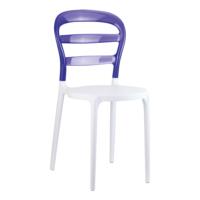 Siesta Contract Miss Bibi Sandalye - Beyaz - Mor