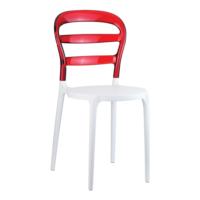 Siesta Contract Miss Bibi Sandalye - Beyaz - Kırmızı