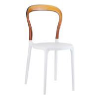 Siesta Contract Mr Bobo Sandalye - Beyaz - Kahverengi
