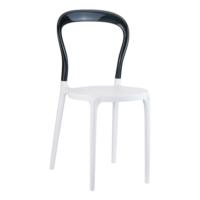Siesta Contract Mr Bobo Sandalye - Beyaz - Siyah
