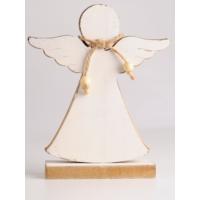 Angels İn Town Ahşap Beyaz Melek Biblo Büyük