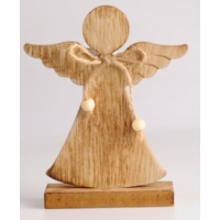 Angels İn Town Ahşap Kahverengi Melek Biblo Büyük