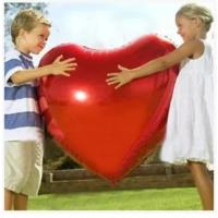 Chavin En Büyük Boy Kırmızı Kalp Aşk 75 Cm. Folyo Balon Cin61