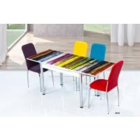 Gül Masa Mutfak Cam Masa Takımı Yandan Açılır Uzamalı Masa +4 Adet İkon Sandalye Şık