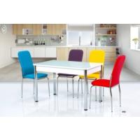 Gül Masa Mutfak Masa Takımı Cam Masa +6 Adet İkon Sandalye Seti Hesaplı Ekonomik